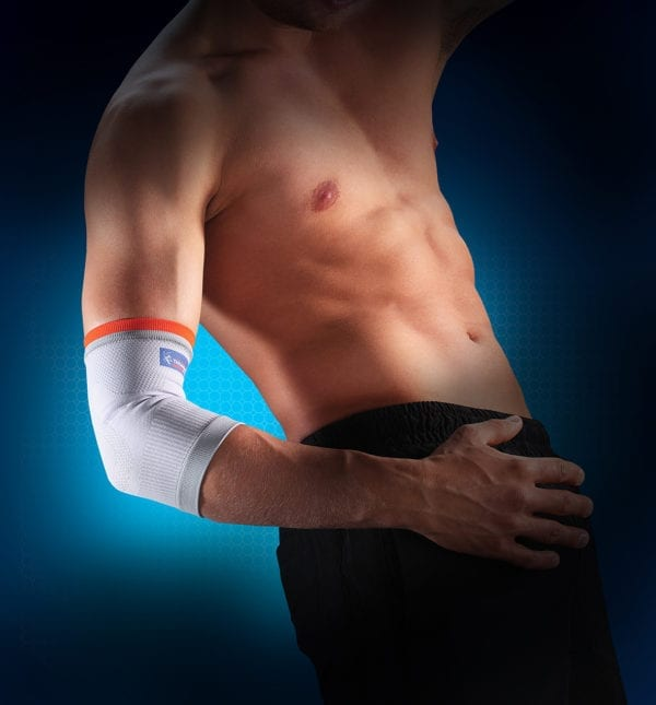 Man wearing a Thuasne Elastic Elbow Support on his arm