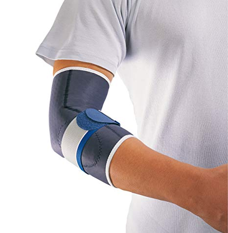 A person wearing a Thuasne Anti-Epicondylitis Elbow Support on their arm