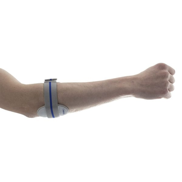 An extended arm wearing a Thuasne Epimed Elbow Support