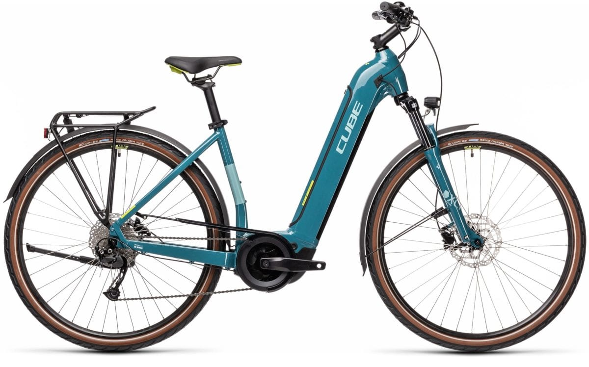 Cube Touring Hybrid One Easy Entry 500 Blue 'n' Green 2021